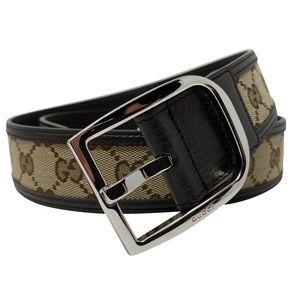 Gucci Brown Leather GG Guccissima Signature Belt